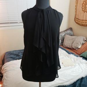 Forever 21 Plus Size Sleeveless Black Chiffon Top